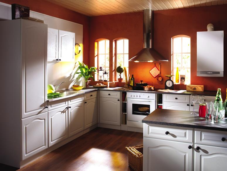 Фото: Котел, установленный на кухне