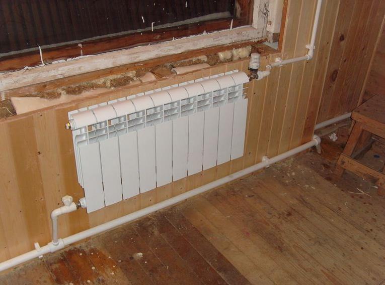 Отопление в деревенском доме своими руками