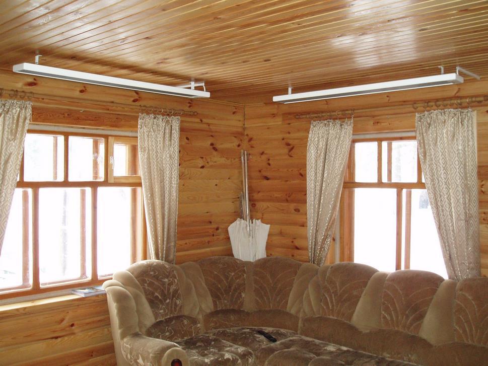 Фото: Инфракрасный потолочный обогреватель