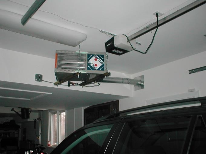 Фото: Воздуховоды в гараже