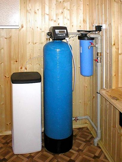 Фото: Каскад фильтров для умягчения воды