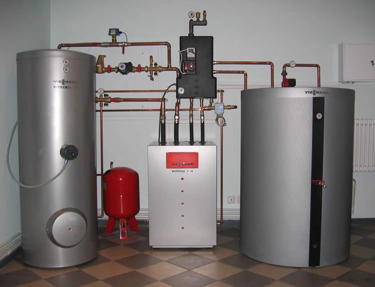 Фото: Газовая установка для отопления дачи
